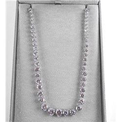 925 Silver Necklace 85ct Graduating Swarovski Elem