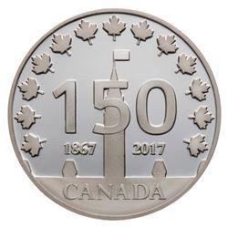 2017 Canada 150 Logo Medal - 1 oz. Pure Silver Pie