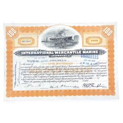 International Mercantile Marine 1938 Stock Cert (G