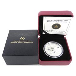 .9999 Fine Silver $20.00 Coin Crystal Snowflakes -