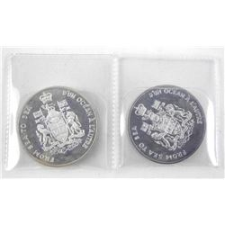 Lot (2) Silver From Sea to Sea Coins: 1930 - 1935,