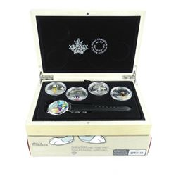 2015 $20 Looney TunesTM - Pure Silver 4-Coin Set w