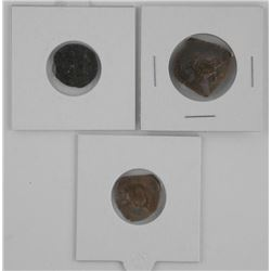 Grouping (3) Byzantine Empire Cup Shape Coins (109