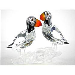 Swarovski Crystal Figurine 'Puffins' (SIR)