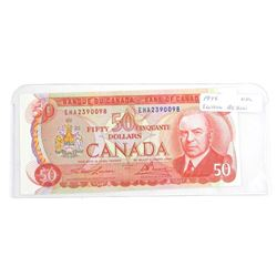 1975 Bank of Canada Fifty Dollar Note 'RCMP Format