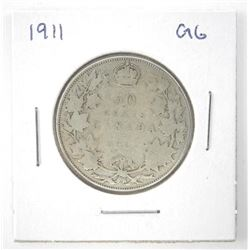 1911 Canada Silver 50 Cent (G-6) (KR)
