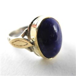 Estate 9kt English Gold Ring with Lapis Stone (4.1