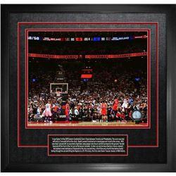 Leonard,K 16x20 Etched Mat Raptors Game 7 Basket (
