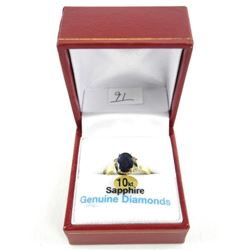 (B991) Ladies 10kt Gold Fancy Sapphire and Diamond