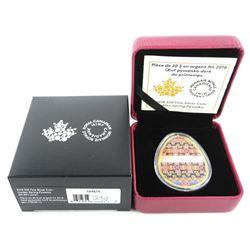 .9999 Fine Silver $20.00 Coin Golden Spring Pysank