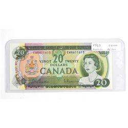 1969 Bank of Canada Twenty Dollar Note 2 Letter. C
