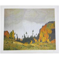 A.J. Casson (1898-1992) Litho 'Northland' 20x24 un