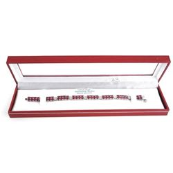 (BB22) 925 Silver Custom Bracelet (11.50ct) Rubies