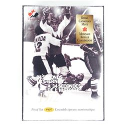 1997 RCM Proof Set 1972 - Hockey Dollar Mint Seale