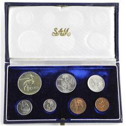 1966 South Africa Coin Set 7-Coin.