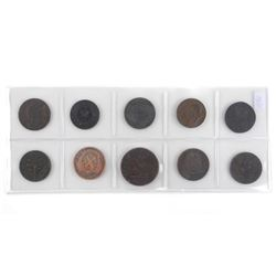 Grouping of (10) Colonial Early Canada Tokens