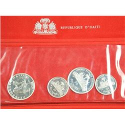 Republic of Haiti - 4 Silver Coin Set 1.48 ASW.