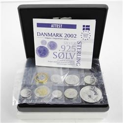 Denmark Proof Sterling Silver Pattern Euro Set wit