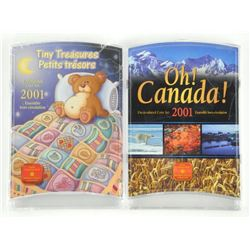 Lot (2) 2001 UNC Coin Sets - OH Canada