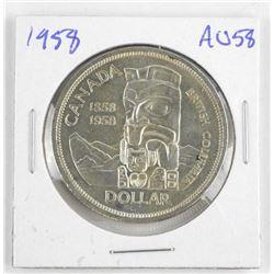 1958 Canada Silver Dollar AU58