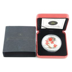 2004 .9999 Fine Silver Maple Leaf $5.00 Coloured
