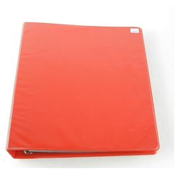 World Estate Note Collection Red Binder