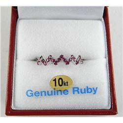 (BB40) Ladies 10kt Gold 23 Ruby Ring $1800.00