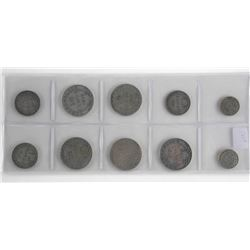 Lot (10) Early Canadian and NFLD - Silver Coins