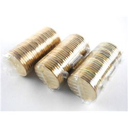 Grouping 3 Rolls Canada 1.00 Coins: 1996, 2008, 20