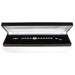 925 Silver Bracelet Pear Cut Swarovski Elements
