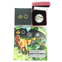 Grouping - Dinosaur Coins .9999 Fine Silver $10.00