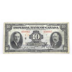 1939 Imperial Bank of Canada $10.00.