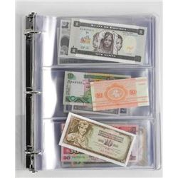 World Note Collection 100 Notes - UNC 100 Countrie