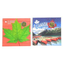 Lot (2) OH CANADA UNC Gift Folio of Coins