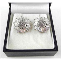 925 Silver Baguette Swarovski Elements Earrings