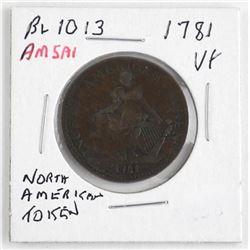 BL1013 - 1781 North American Token VF