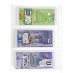 Lot (3) Bank of Canada Notes: 2 x Ten Dollar and 1