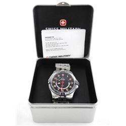 Swiss Military GMT Watch Stainless Steel, NEW (IER