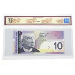 Bank of Canada 2005 Ten Dollar Note. EF45. BCS