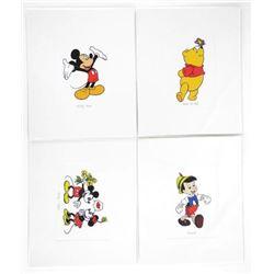 "Grouping of (4) Disney Serigraphics 4x6"""
