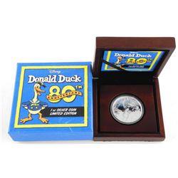 .9999 Fine Silver 1oz Coin Donald Duck 80th Deluxe