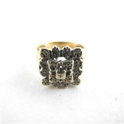 Estate 9kt Gold Ring w/Stones