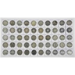 Lot (50) Canada Silver Dollars
