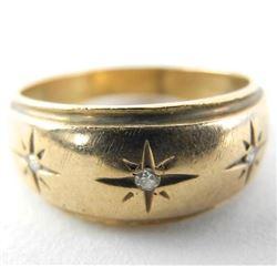 Estate Gents 10kt Gold Band Ring (6.9g) (36)