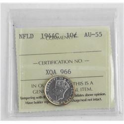 1944c NFLD 10 Cent. AU55. ICCS.