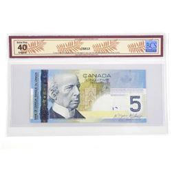 Bank of Canada 2006 Five Dollar Note. EF40. BCS