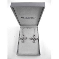 925 Silver Designer MM Fancy Drop Earrings Swarovs