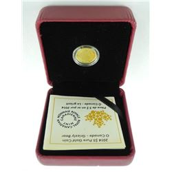 2014 .9999 Fine Pure Gold $5.00 Coin 'Grizzly Bear