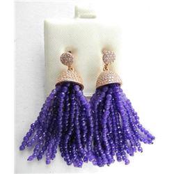 925 Sterling Silver Earrings, Drop Bead Genuine Am