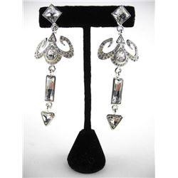 Atelier by MMCrystal Earrings with 46.00ct of Swar